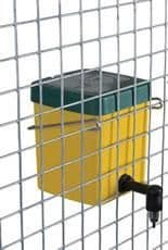 Eton plastic square nipple drinker yellow